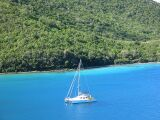 PatiCat Voyage 440 catamaran at anchor Leinster Bay, St. John